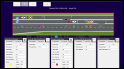 Traffic simulator system